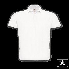 B C klasszikus galléros póló fehér b9a71780bb